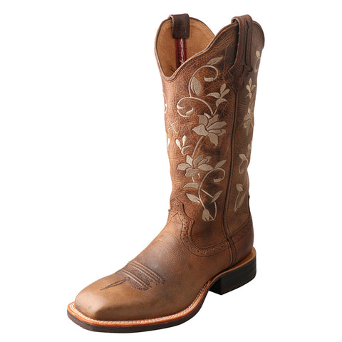 "LADIES TWISTED X 13"" RUFF STOCK BOOT/OILED BOMBER & OILED BOMBER-WRS0025"