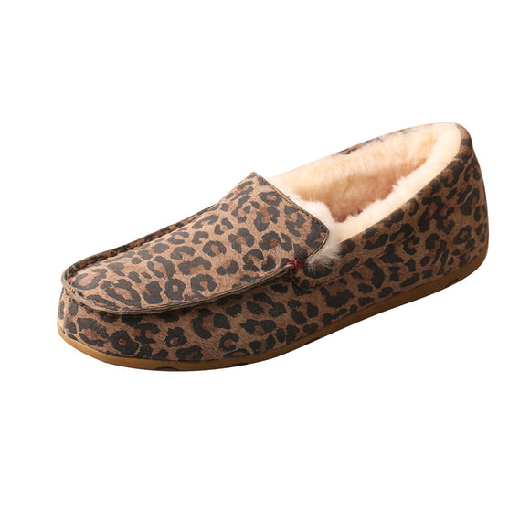 LADIES TWISTED X SLIPPER/LEOPARD-WSR0002