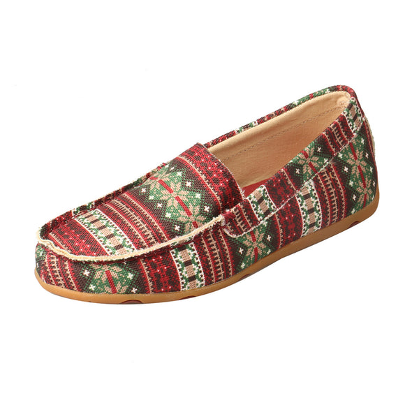 LADIES TWISTED X SLIPPER/MULTI CANVAS-WSR0005