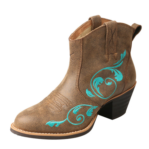LADIES TWISTED X WESTERN FASHION BOOTIE/BOMBER & TURQUOISE-WWF0007