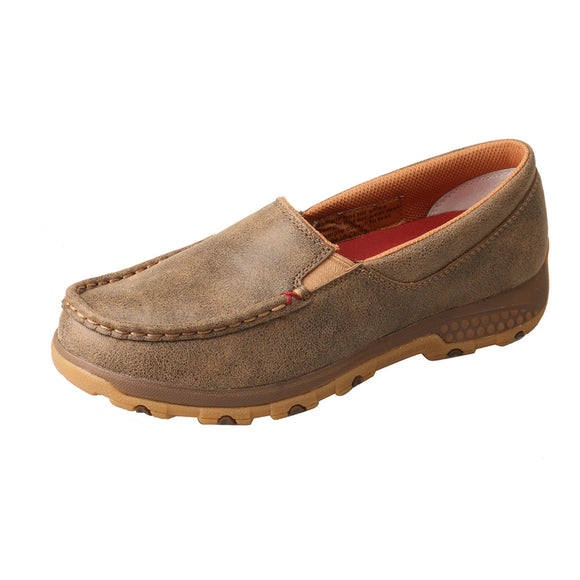 LADIES TWISTED X SLIP-ON DRIVING MOC WITH CELLSTRETCH/BOMBER-WXC0004