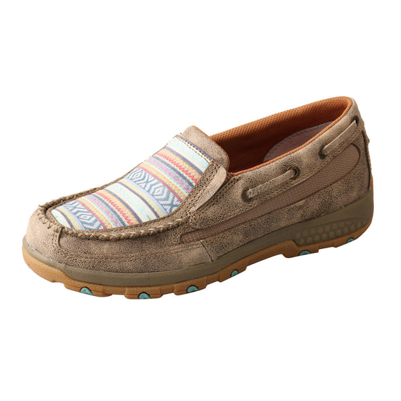 LADIES TWISTED X SLIP-ON DRIVING MOC WITH CELLSTRETCH/DUSTY TAN & MULTI-WXC0008