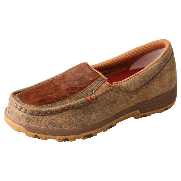LADIES TWISTED X SLIP-ON DRIVING MOC WITH CELLSTRETCH/BOMBER & BRINDLE-WXC0011