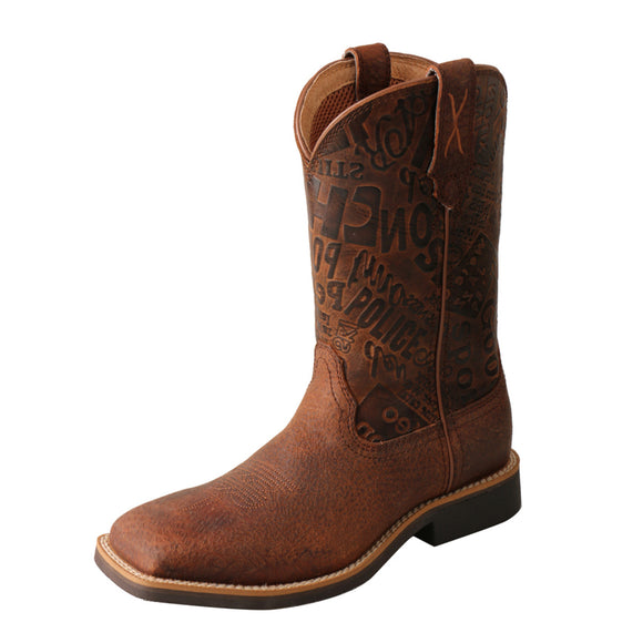 KID'S TWISTED X TOP HAND BOOT/BROWN & BROWN PATTERN-YTH0013