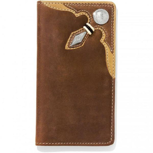 SILVER CREEK STOCKYARDS RAW CHECKBOOK WALLET-06399