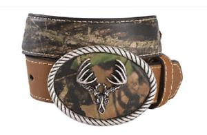 KIDS NOCONA CAMO BELT WITH DEER SKULL BUCKLE-N44299222