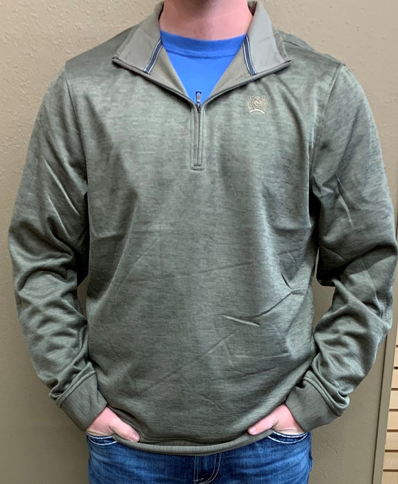 MEN'S CINCH 1/4 ZIP PULLOVER/HEATHER KHAKI-MWK1236004