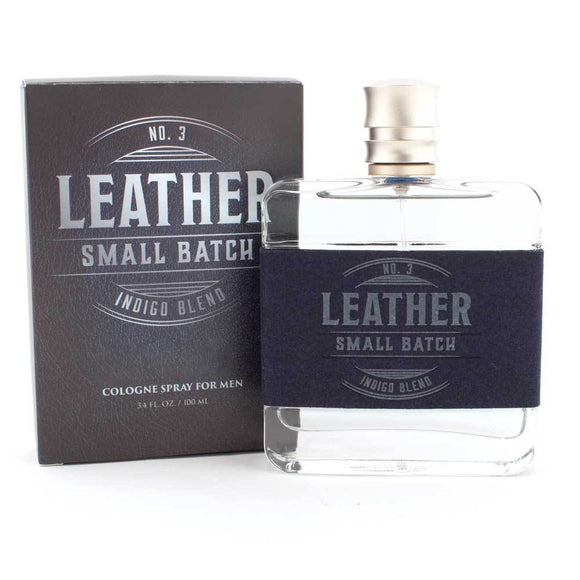 Leather No. 3 Small Batch Indigo Blend 3.4 oz Cologne Spray-94456