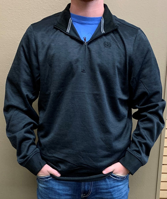 MEN'S CINCH 1/4 ZIP PULLOVER/HEATHER BLACK-MWK1236001