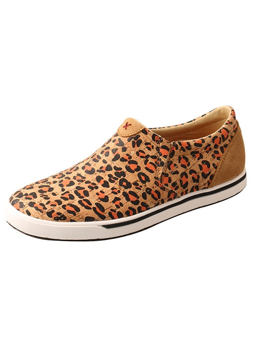 LADIES TWISTED X SLIP-ON KICKS/HONEY, BLACK & CARROT-WCA0033
