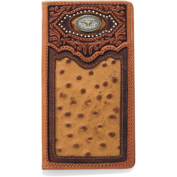 SILVER CREEK CATTLE DRIVEN CHECKBOOK WALLET-E80435