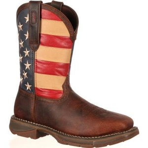 "MEN BRN 11"" WSTRDARK BROWN AND UNION FLAG--DB020"