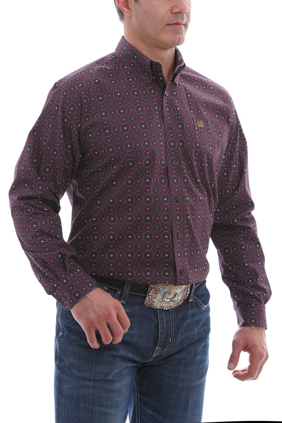 MEN'S CINCH LS PURPLE MEDALLION PRINT-MTW1105127