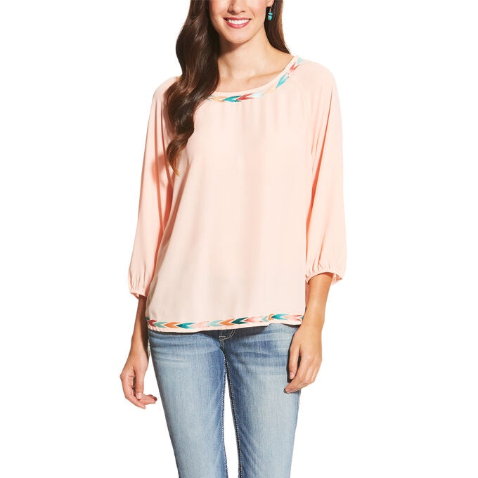 LADIES ARIAT GIA TUNIC/SUGAR PEACH-10018978