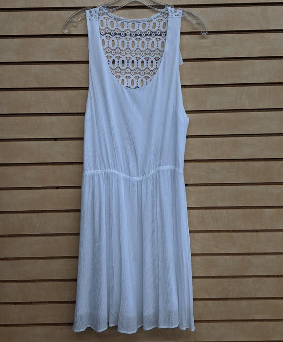 LADIES ROPER DRESS/WHITE-3575653028