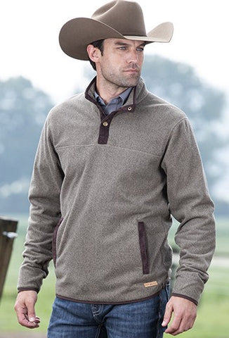 MENS POWDER RIVER L/S PULLOVER/BROWN-91A2651