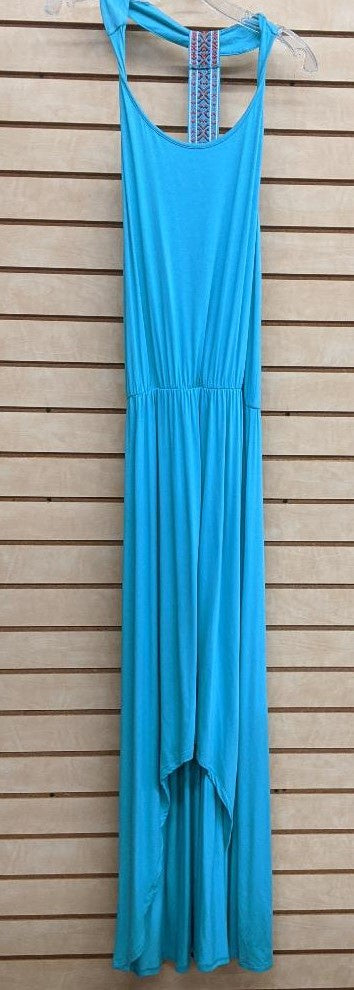 LADIES WRANGLER MAXI DRESS/TEAL-LWD225Q