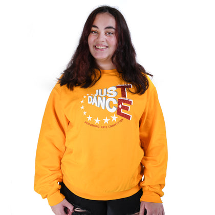 TE Just Dance Sweatshirt Gold with Red Sparkles - TECOMPS