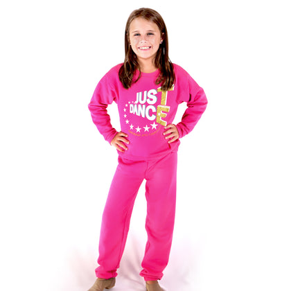 TE Just Dance Sweatshirt Pink with Gold Sparkles - TECOMPS