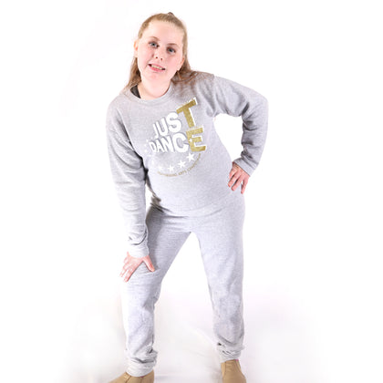 TE Just Dance Sweatshirt Grey with Gold Sparkles - TECOMPS