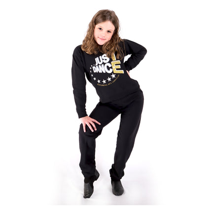 TE Just Dance Sweatshirt Black with Gold Sparkles - TECOMPS