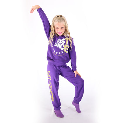 TE Just Dance Sweatshirt Purple with Gold Sparkles - TECOMPS