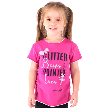 Glitter Bows & Pointed Toes Shirt - TECOMPS