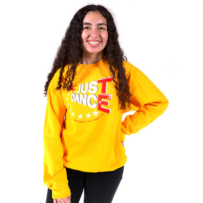TE Just Dance Sweatshirt Gold with Red - TECOMPS