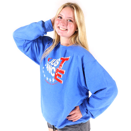 TE Just Dance Sweatshirts Blue with Red - TECOMPS