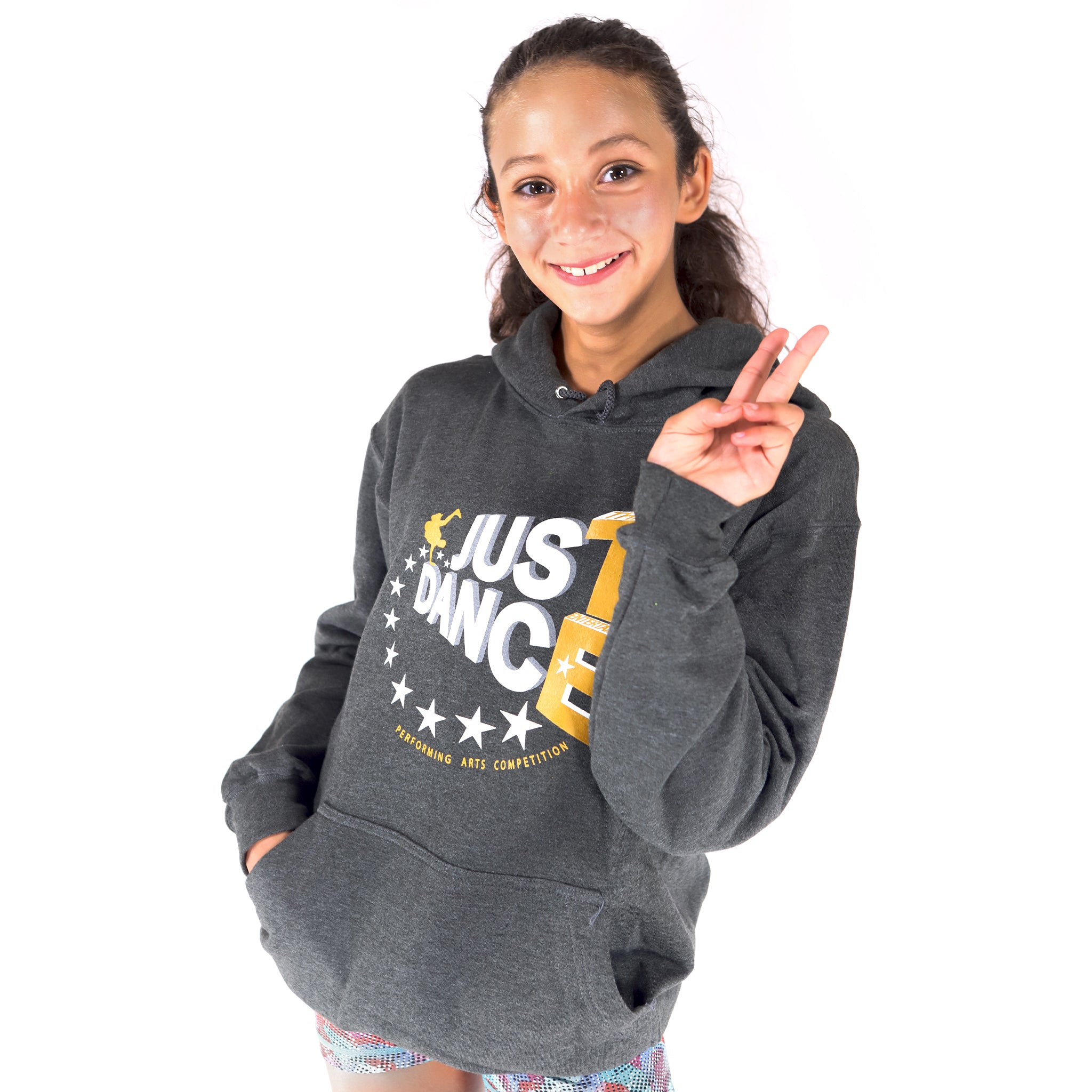 TE Just Dance Hoodie Charcoal with Gold