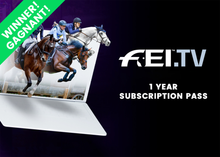 Load image into Gallery viewer, FEI One-year Premium Subscription FEI.tv + Memorabilia package