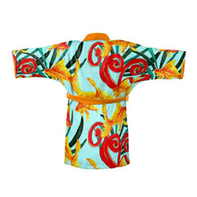 Load image into Gallery viewer, Hand Painted Goldfish design on a beautiful kimono