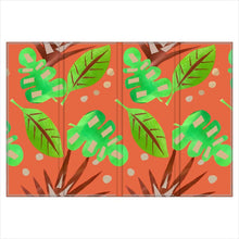 Load image into Gallery viewer, Hand Painted tropical Leaf double sided Screen