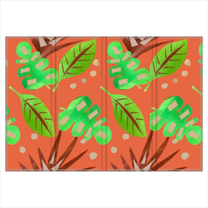 Hand Painted tropical Leaf double sided Screen