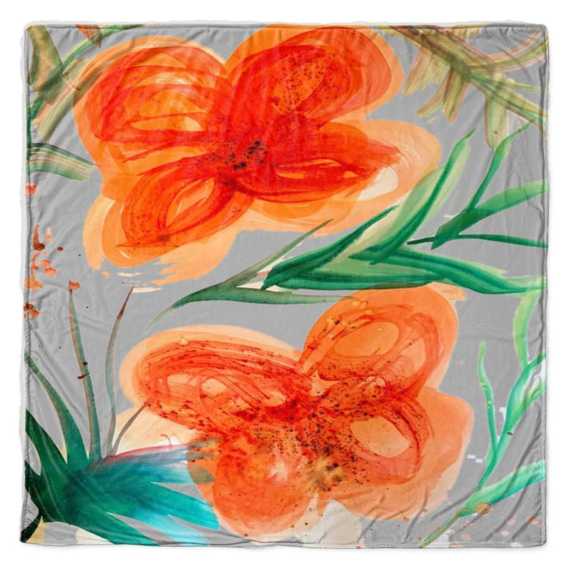 Peach Flower Throw