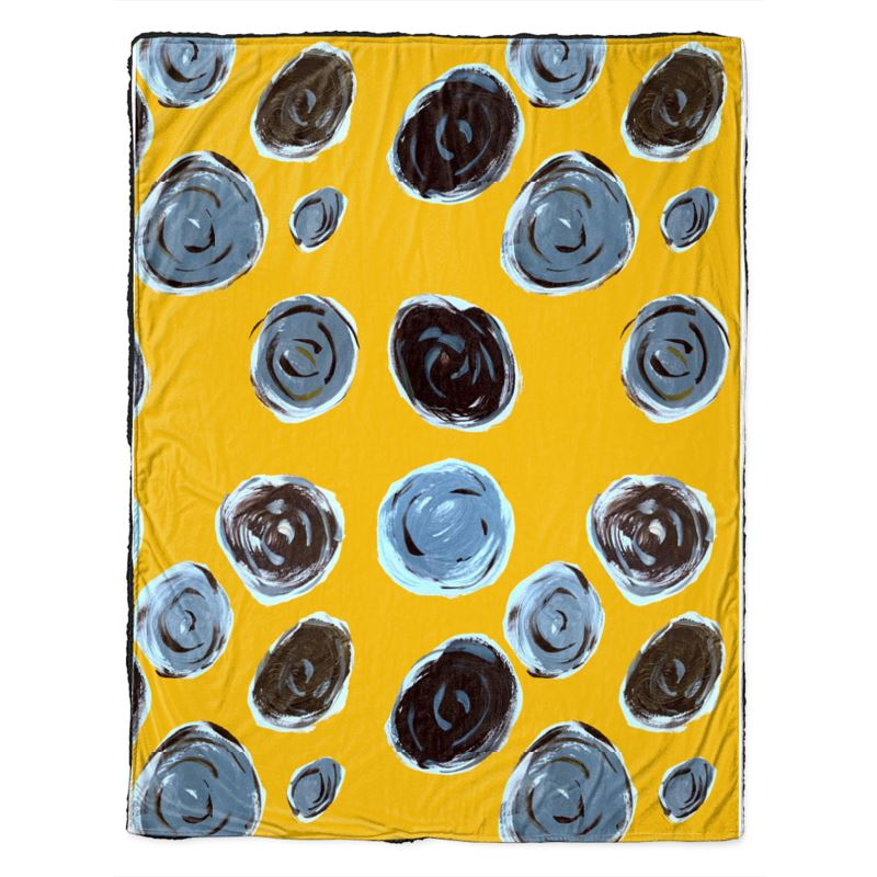 Spots on a Mustard Background Throw