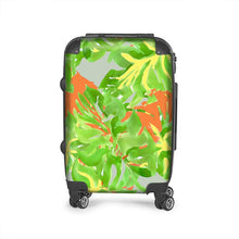 Load image into Gallery viewer, Hand Painted tropical Leaf Suitcase