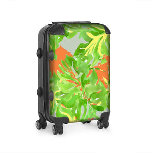 Hand Painted tropical Leaf Suitcase