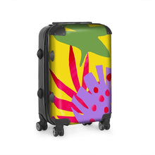 Load image into Gallery viewer, Bright Tropical Leaf design suitcase