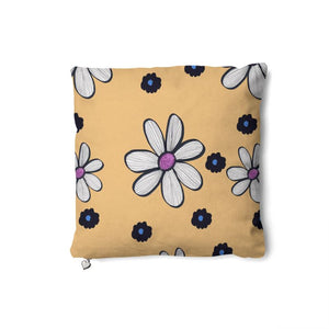 Quirky Flower (Yellow) Cushion Double sided