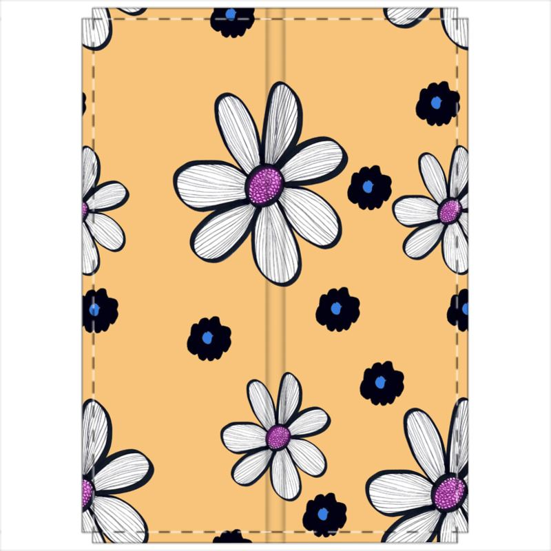 Quirky Flower (Yellow) Double Sided Folding Screen