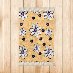 Quirky Flower (Yellow) Rug