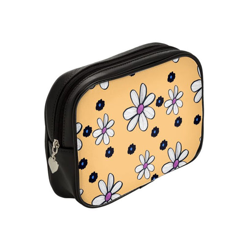 Quirky Flower (Yellow) Luxury Makeup Bag