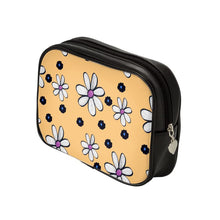 Load image into Gallery viewer, Quirky Flower (Yellow) Luxury Makeup Bag