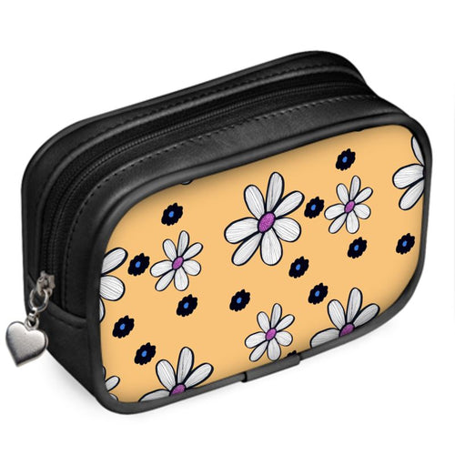 Quirky Flower (Yellow) luxury Pouch purse