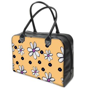 Quirky Flower (Yellow) Luxury Holdall