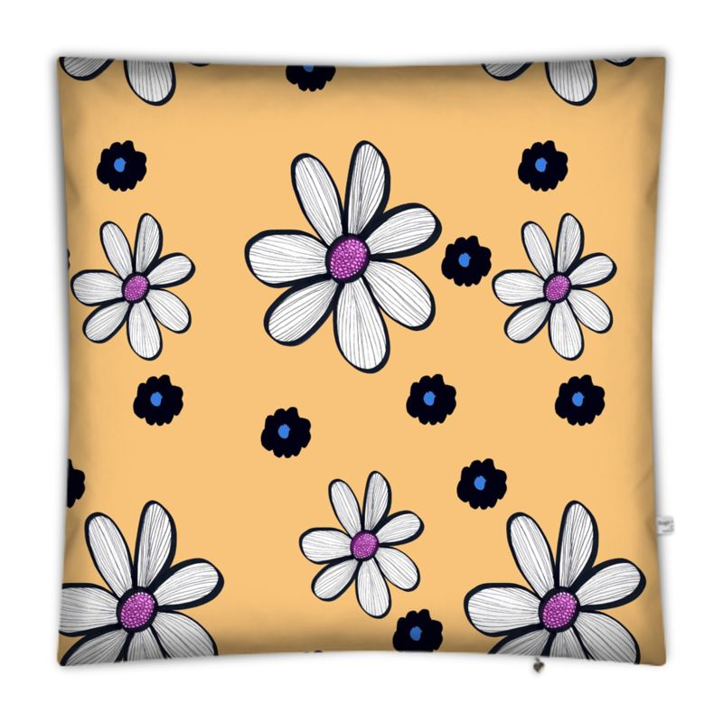 Quirky Flower (yellow) Floor Cushion