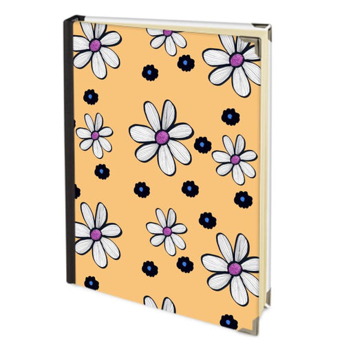 Quirky Flower on a yellow background diary