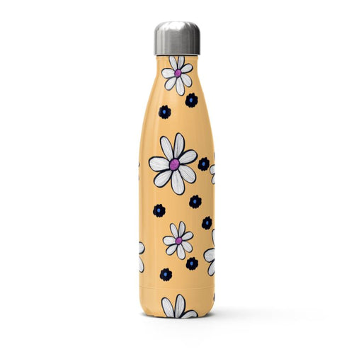Quirky Flowers (Yellow) Thermal Bottle