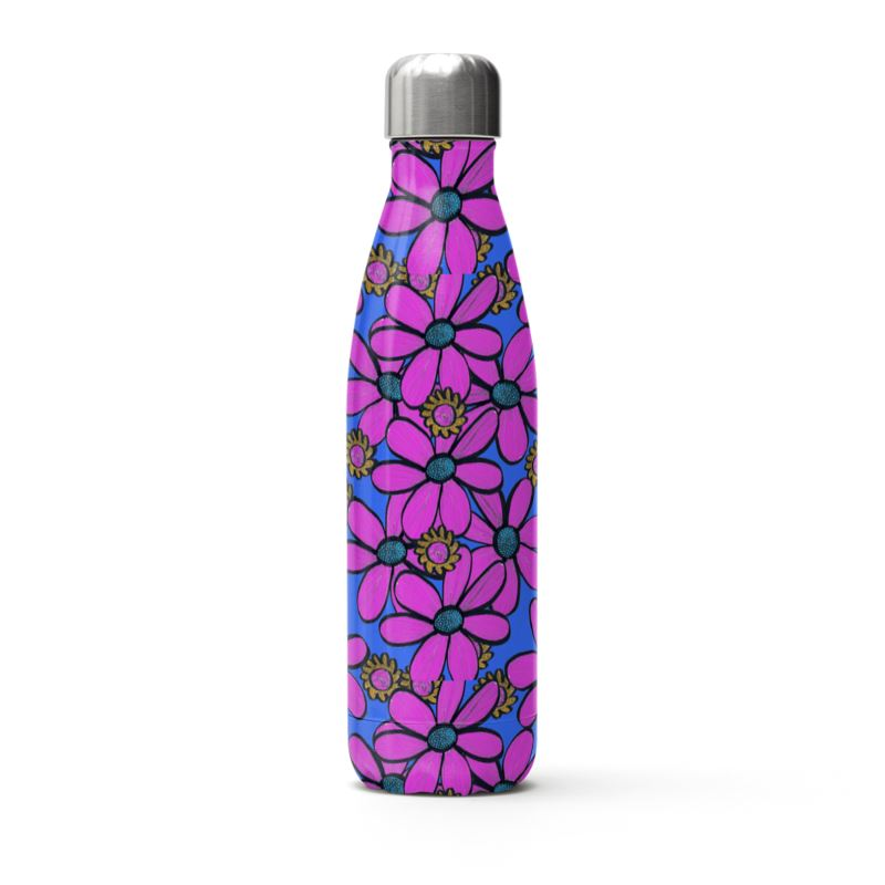Quirky Pink Flower Thermal Bottle